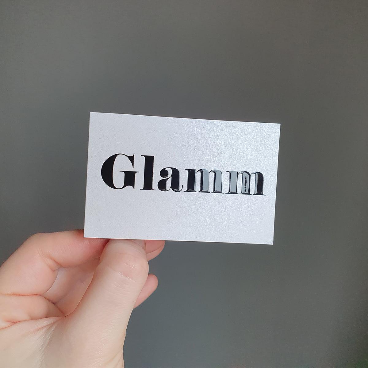 Visitekaartje Haarstudio Glamm