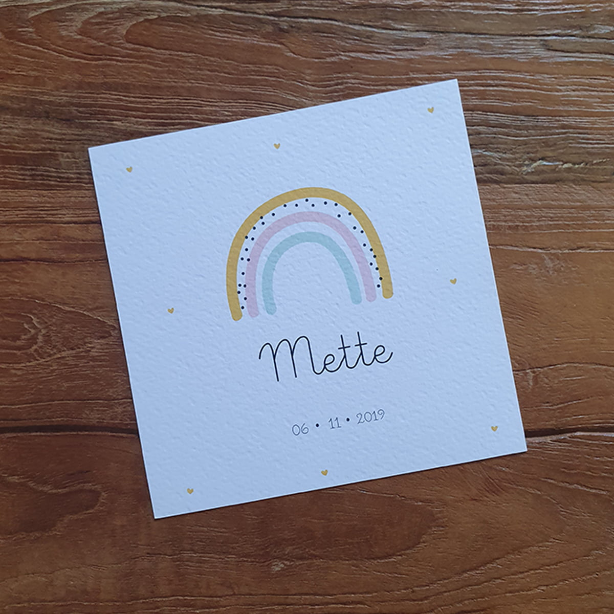 Geboortekaartje 'rainbow'