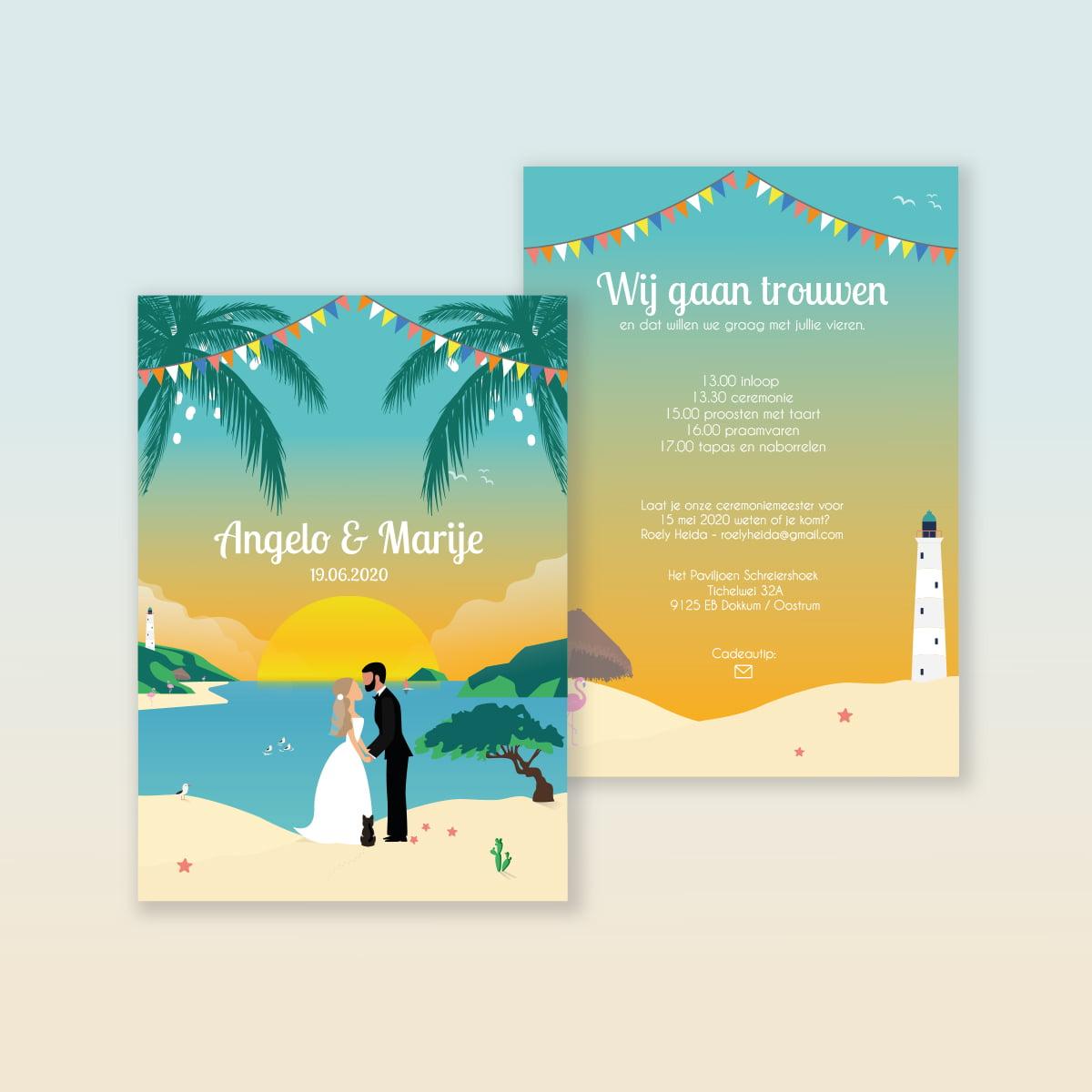 Trouwkaart Angelo & Marije